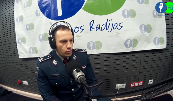 Studijos svečias Lietuvos policijos generalinis komisaras L. Pernavas